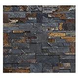 1 Muster W-009 Schiefer Wandverkleidung Steinwand Naturstein Verblender Lager Verkauf Stein-Mosaik Herne NRW Wand-Design