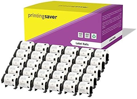 30 Compatibles Rouleaux Brother DK11209 DK-11209 29mm x 62mm Papier Étiquettes Adresse pour Brother P-Touch QL-500 QL-550 QL-560 QL-570 QL-580N QL-650TD QL-700 QL-720NW QL-1050 QL-1060N (800 Étiquettes par Rouleau)