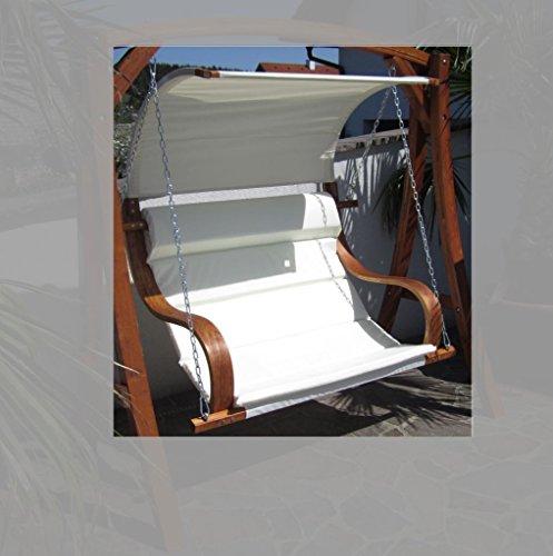 Design Sitzbank für Hollywoodschaukel 'SEAT-MERU' aus Holz Lärche inkl. Dach (ohne Gestell!!) von AS-S