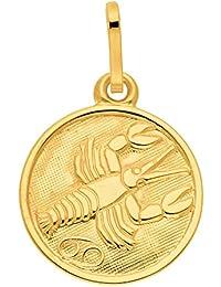 Gold 8 k ( 333 ) Sternzeichen Anhänger - Krebs - Ø 11,8 mm