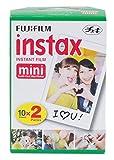 Fujifilm Instax Mini Brillo - Película fotográfica instantánea (2 x 10 hojas), color blanco