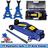 Bowose 2 Tonne Hydraulic Trolley Floor Jack Quick Lift 135-320mm with Storage Case