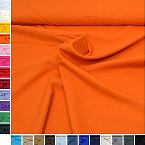 MAGAM-Stoffe Allround-Stoff ''Mara'' Blickdicht und knitterarm, ideal für Kostüme, Tischdecken, Dekostoff - Meterware ab 50cm (04. Orange) (Wollen U Kostüm)
