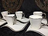 Designer Kaffee Espresso Service Teller & Tassen Porzellan (Espresso)