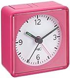 Lautlos-Wecker TFA Push Pink Sweep-Uhrwerk ohne Ticken