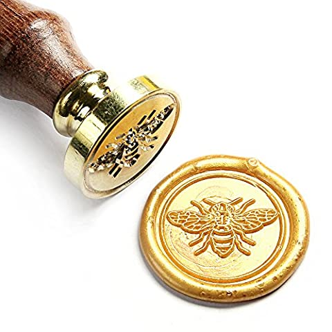 UNIQOOO Arts & Crafts Little Bee Wax Seal Stamp