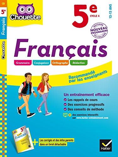 Franais 5e: cahier d'entranement et de rvision