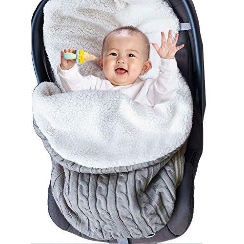 Coperta Invernale per Neonato Bebè, Inverno Spessore Caldo Coperta Sacco a Pelo Copertine Ragazzi Ragazze Swaddle per Passeggini Culle 68x38cm