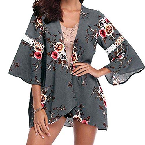 Amphia Damen Strickjacke Cardigan Bolero Strickmantel Kimono Pullover Blazer Jacke, Kimono Cardigan...