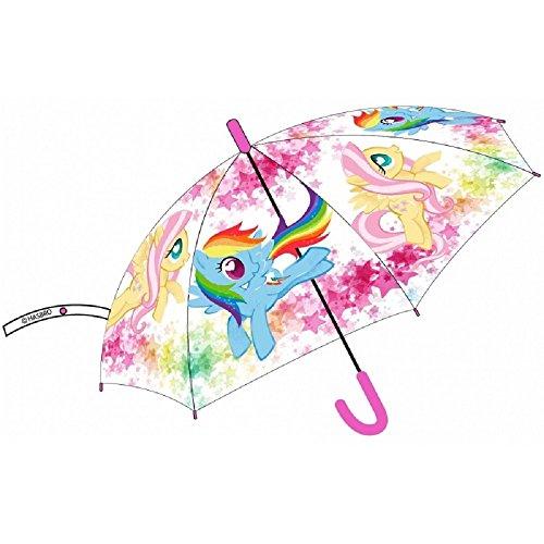 My Little Pony Regenschirm transparent mit Schalter 43 cm Durchmesser aufgespannt
