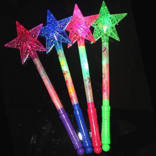 hohlem Stern, leuchtendes Design, für Konzertauftritte, Party-Requisite, zufällige Farbe Zufällige Farbauswahl ()