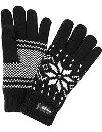Thermo Strick Handschuhe mit Thinsulate Futter Unisex - Erwachsene mit Norweger Motiv