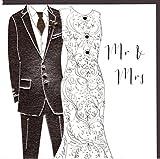 Belly Button Designs Paloma bezaubernde Glückwunschkarte zur Hochzeit Mr & Mrs mit Prägung, Folie und Kristallen BB180