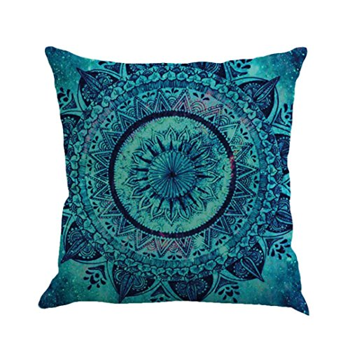 Geometrie Malerei Leinen Kissenbezug Throw Kissenbezug Sofa Home Decor By Dragon (Mehrfarbig a)