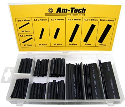 Am-Tech Heat Shrink Wire Wrap Assortment (127 Pieces )
