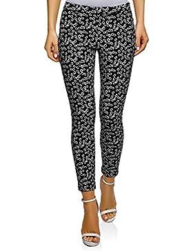 oodji Ultra Mujer Pantalones con Elástico Estampados