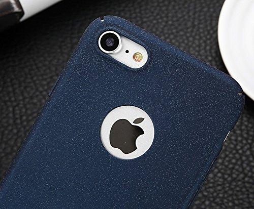 EKINHUI Case Cover Für Apple IPhone 7 rückseitige Abdeckung, dünner dünner heller Sand-mattierter Matt-Abschluss-Ganzkörper-schützender Abdeckungs-Shell-Fall ( Color : Gold ) Blue