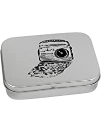 110mm 'Retro Radio' Metal Hinged Tin / Storage Box (TT00035733)