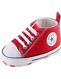 Zapatillas de Deporte Lindas Suaves Antideslizantes del Zapato (M: 6~12 meses, Rojo)