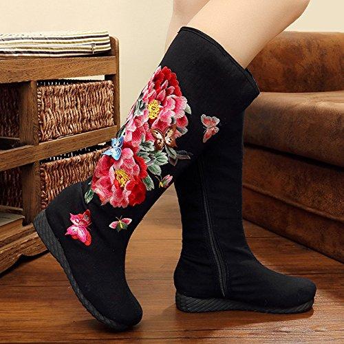 Vent Neuf Chaussures Avec Faible Loisirs Pente Tube Bottes Chinois qCwfZWXt