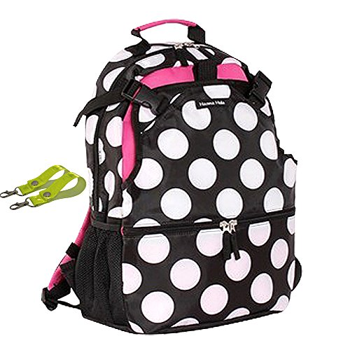 LanDuo Mujer Deportes al aire libre mochila talla L Rosa Big Dots