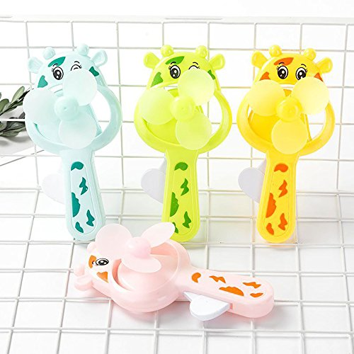 Handgebläse, Mini manuelle Handgebläse, Keine Batterie betrieben für die Kühlung Handpresse Fan Cartoon Mini Tierspielzeug ()