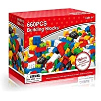 660 Pieces Building Construction Bricks Blocks Toys Colourful Toy Play Game Toddler Boys Girls Unisex Cool Educational Child Childrens Creative Learning