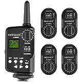 Neewer FT-16 Set de 16-canal Disparador de Flash Control Remoto Inalámbrico - (1) Transmisor y (4) Receptor para AD180 AD360 Speedlite Flash, Adecuado para Canon , Nikon, Pentax, Olympus Cámaras