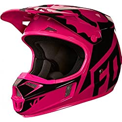 Fox Casco Junior V de 1 Race, rosa, tamaño YL