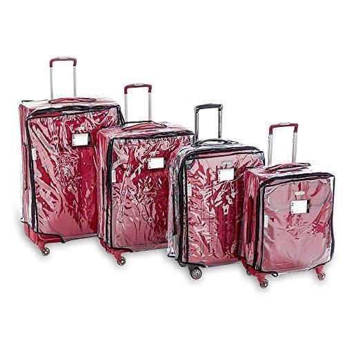 Blasani - Protezione per valigie, in PVC trasparente, adatta per dimensioni 50,8x 53,3cm Clear XL L (29) x W (13,5) x H (30)