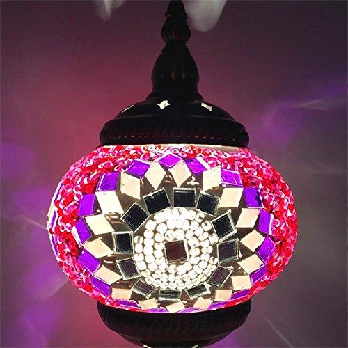 Wandleuchten DE- LED-Wand Lampe E14 Östliches Mittelmeer Stil Wohnzimmer Schlafzimmer Bett Legierungen Mosaik Glas, R