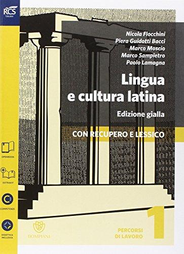 Lingua e cultura latina e lessico. Percorsi-Lessico-Repertorio lessicale. Ediz. gialla. Per le Scuole superiori. Con e-book. Con espansione online: 1