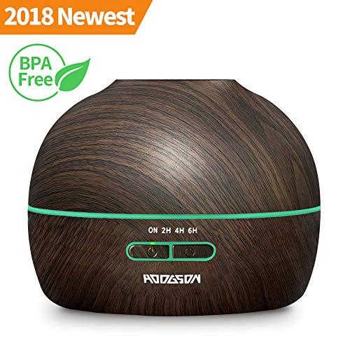 Aroma Diffuser 300ml HODGSON Ultraschall Luftbefeuchter Humidifier Holzmaserung Aromatherapie ätherischem Öl Diffusor 7 Farben LED für Beauty-Salon, SPA, Yoga, Schlafzimmer,