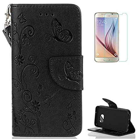 Coque Samsung Galaxy S7 Edge Portefeuille Cuir Housse [avec Protections