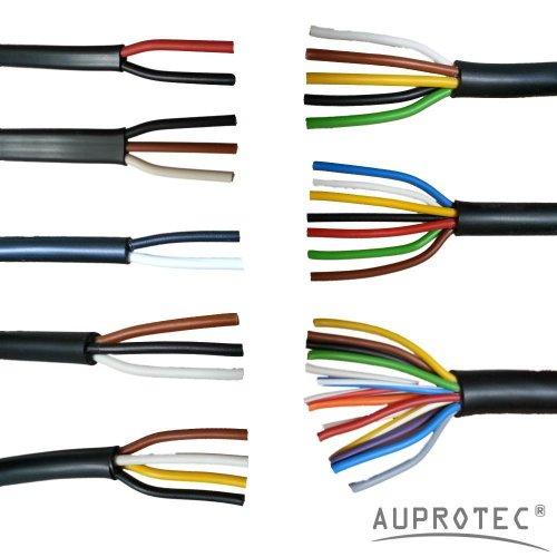 Kfz Leitung 2 - 13 polig Anhängerleitung PKW LKW Meterware Auswahl: (4 adrig 4 x 1.5 mm² Rundleitung)