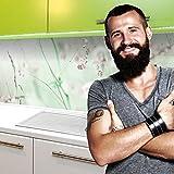 StickerProfis Küchenrückwand selbstklebend Premium WILDBLUMENWIESE 60 x 340cm DIY - Do It Yourself PVC Spritzschutz