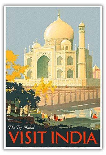 Pacifica Island Art Besuchen Sie Indien - Tadsch Mahal - Agra, Indien - Vintage Retro Welt Reise Plakat Poster von William Spencer Bagdatopulos c.1930 - Kunstdruck - 33cm x 48cm