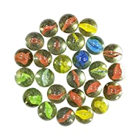Beautiful marbles glass shooter assorted game. * material: glass * colour: multi -colour * size: 20 to 25 mm(Approx.) * sales for: lot of 50 pieces * weight: 290 g (approx) * glass marbles decorative aquarium marbles are the perfect addition to your ...