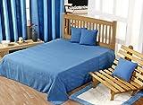 Homescapes jeta Bettwäsche und jeta canapa Rajput-Farbe blau 150 x 200 cm aus reinem Baumwolle