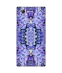 Purple Flowers Sony Xperia J Case