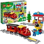 LEGO DUPLOTown TrenoaVapore per Bambini,Luci e Suoni,Giocattolo Push&Go per Bambini dai 2 ai 5 Anni