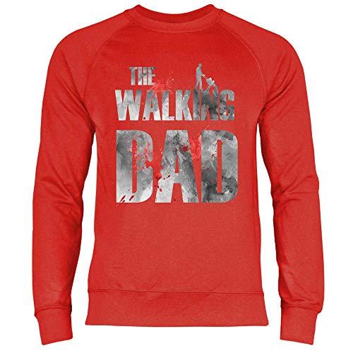 Royal Shirt Herren Sweatshirt Der Papa Zombie, Größe:M, Farbe:Red