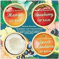 Extractos Naturales Luscious Lips Collection Set de regalo con mango, fresa, coco y mandarina