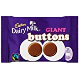 Cadbury Dairy Milk Chocolate Buttons Giant Bag 40 g (Pack of 18)