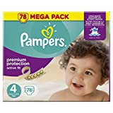 PAMPERS Active Fit Taille 4 - 7 a 18 kg - 78 couches - Format Mega pack