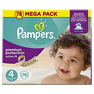 pampers active fit couches taille 4 8 16 kg maxi. Black Bedroom Furniture Sets. Home Design Ideas