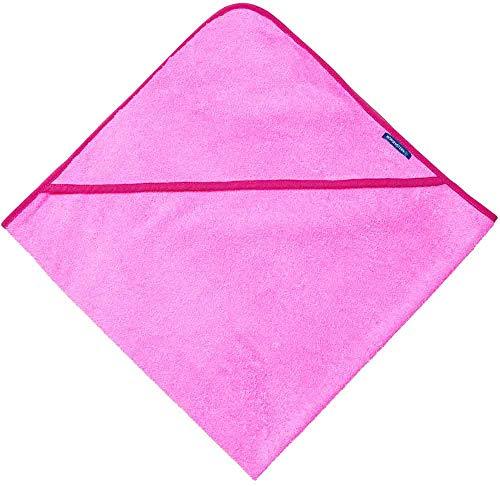 Morgenstern Baumwoll Kapuzentuch 100 x 100 cm einfarbig Rosa für Kinder