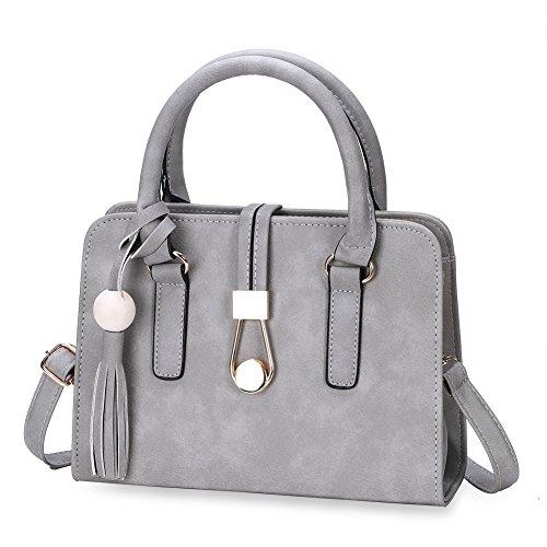 Ladies casual chic piccola borsa Tinta unita-Nero grigio