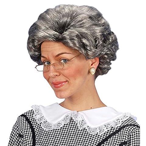 Perruque Mamie - Perruque de grand-mère Agatha vieille femme perruque