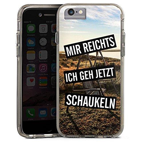Apple iPhone 8 Bumper Hülle Bumper Case Glitzer Hülle Humor Vie Life Bumper Case transparent grau
